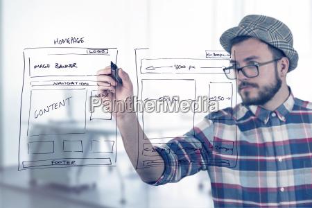 web designer disegno sito web di