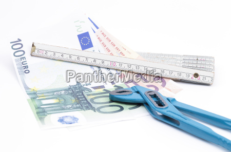 money pliers and folding rule