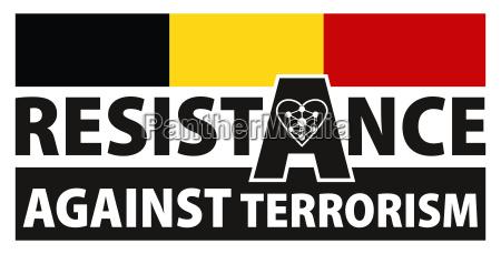 belgium resistance against terrorism sign