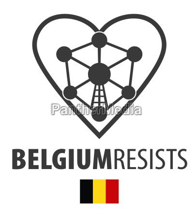 belgium resists terrorism symbol