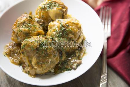 bowl of bavarian dumplings