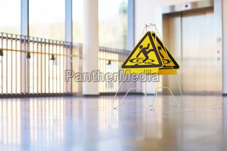 shield danger hallway modern building