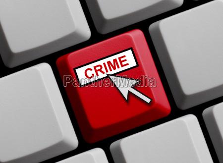 keyboard shows crime