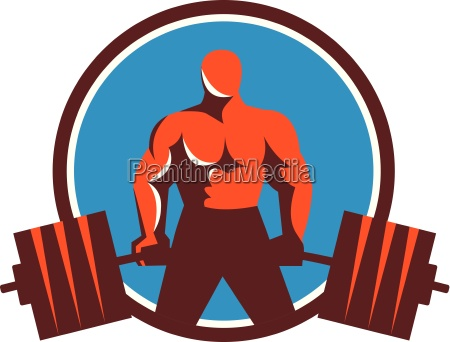 weightlifter midlift circle retro