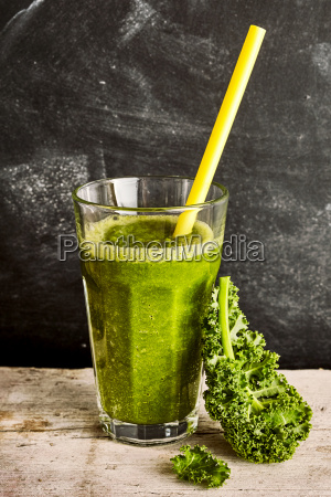 healthy vegetable smoothie with fresh cole