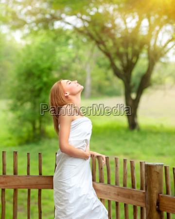 calm female on spa resort