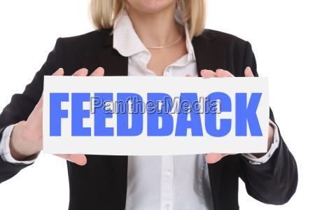 business concept businesswoman feedback customer care