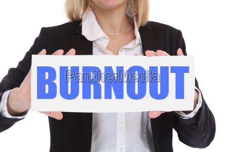 burnout sick disease in job stress