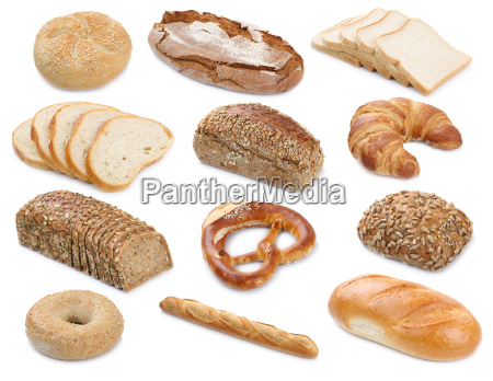 collection of bread loaves pastry buns