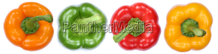 collection paprika peppers vegetables isolated exempted