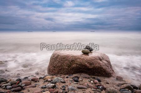 stones on the baltic coast