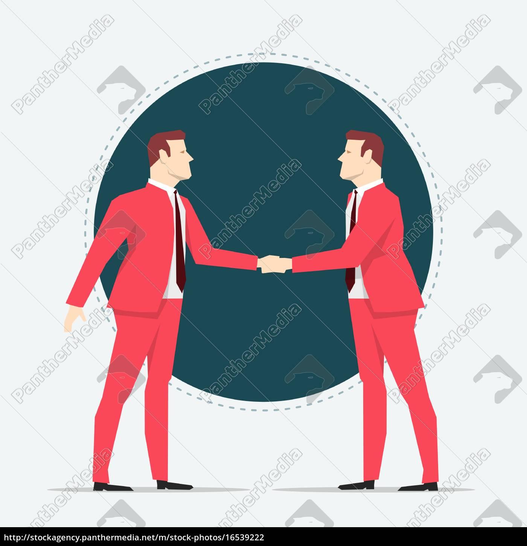businessmen, hand, shaking - 16539222