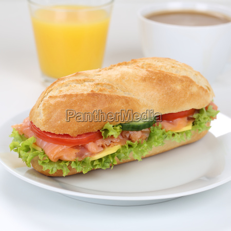 healthy diet sandwich baguette topped with