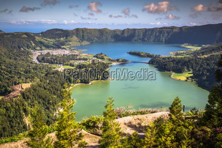 lagoa sete cidades on azores island
