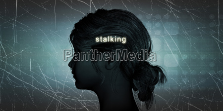 woman facing stalking