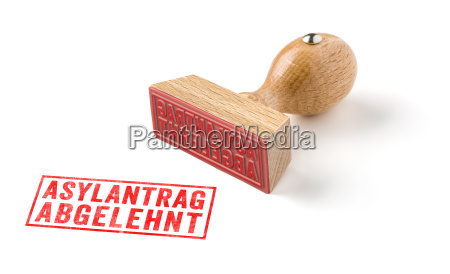 wooden stamp rejected asylum