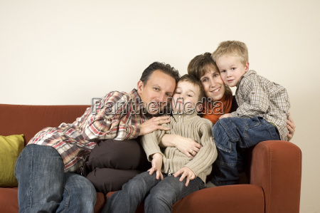 family on a couch 4