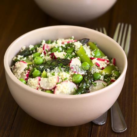 couscous asparagus pea radish salad