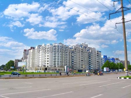 view of multistory modern blocks of