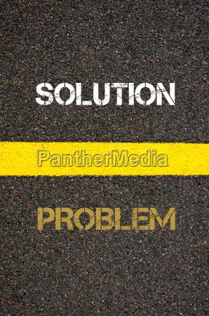 antonym concept of problem versus solution