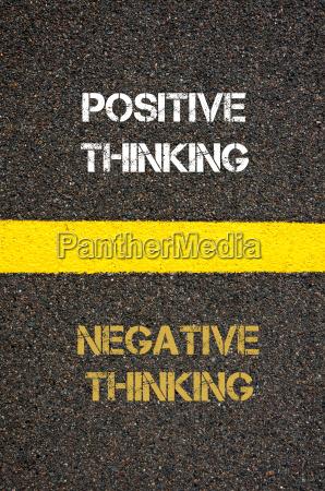 antonym concept of negative thinking versus