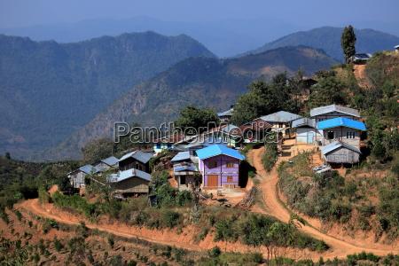 the city kalaw in myanmar