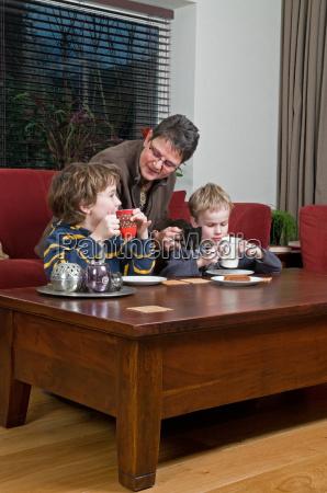 family in a livingroom