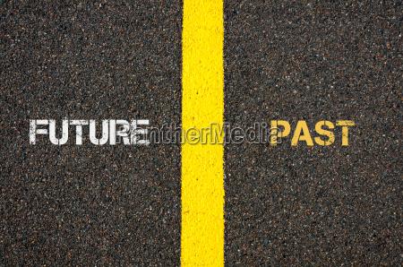 antonym concept of future versus past
