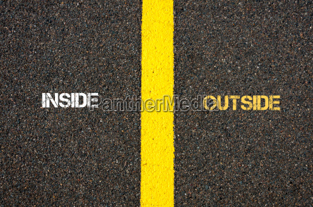 antonym concept of inside versus outside