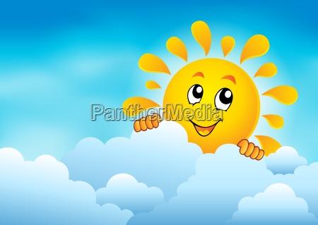 cloudy sky with lurking sun 1