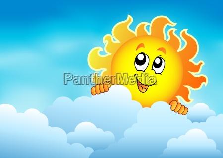 cloudy sky with lurking sun 2