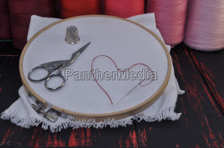 hoop with canvas for embroidery