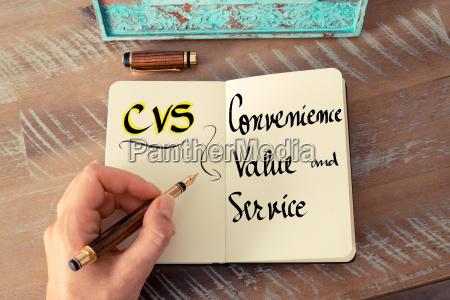 acronym cvs as convenience value and