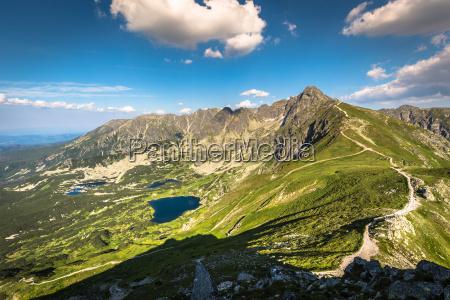 view from kasprowy wierch summit in