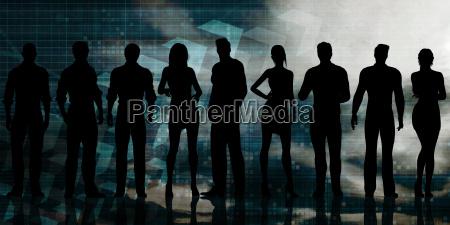 futuristic technology team