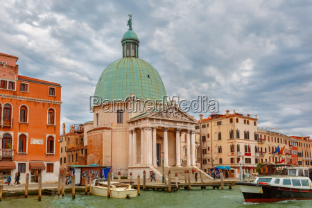 grand canal in cloudy day venice