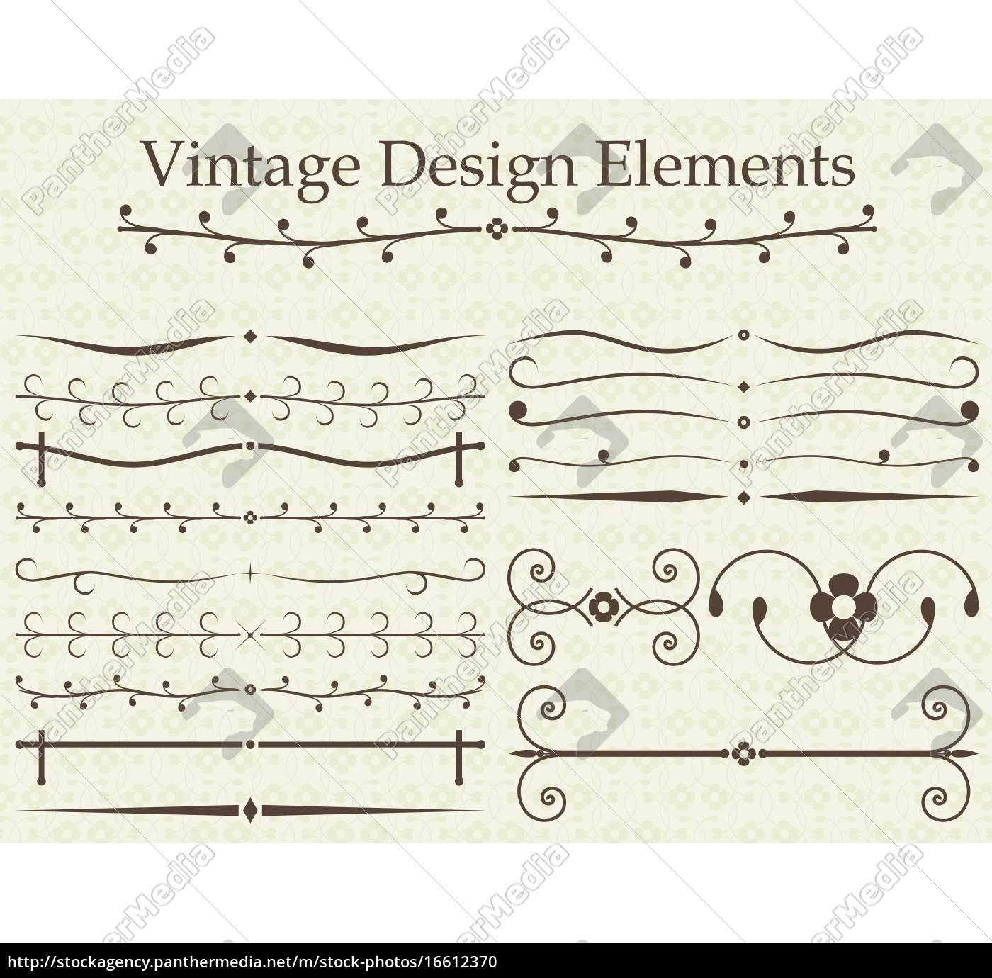 vintage, design, elements - 16612370