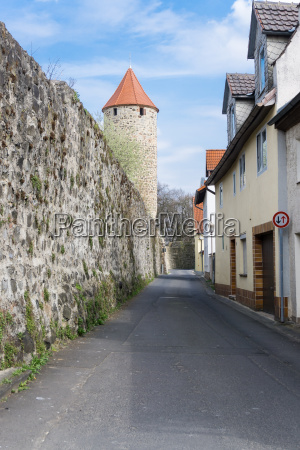 historical old town wall with fortified