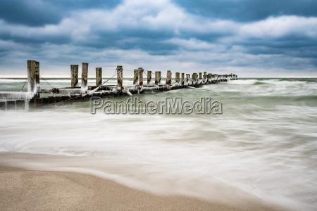 inverno praia beira mar da praia