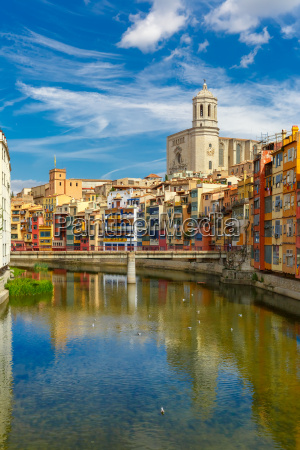 cathedral in girona catalonia spain