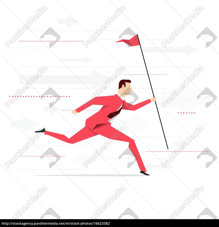 red, suit, businessman. - 16623382