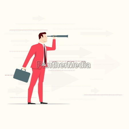 red, suit, businessman. - 16623410