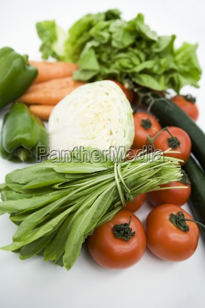 assorted fresh vegetables close up
