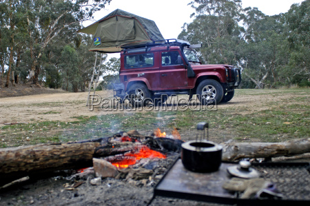 wilderness camping in the australian forest