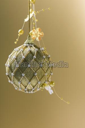 ornate gold christmas tree ornament