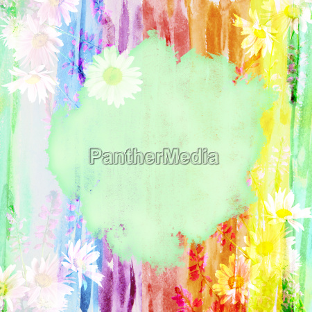 picturesque watercolor floral background with a