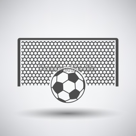 soccer gate with ball on penalty