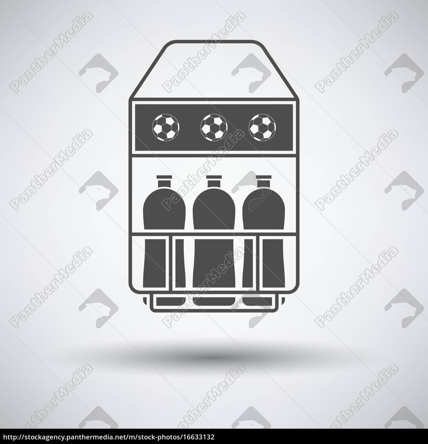 soccer, field, bottle, container, icon, - 16633132