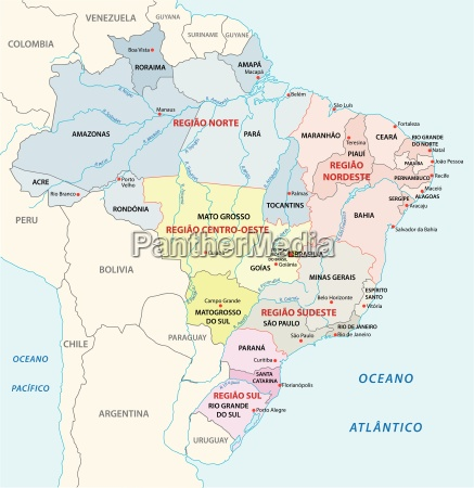 brazil administrative map