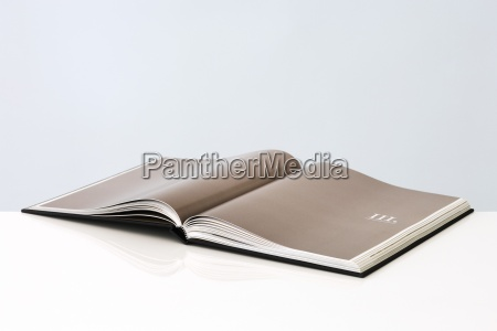 open book with roman numeral on